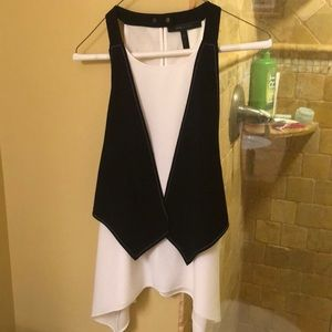 BCBG Women's Marcelle Tank with Attached Vest